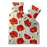 Bettwäsche Baumwolle 200x220 CelinaTex 0002680 Fashion Isabella rot weiß Mohnblume