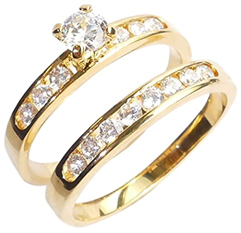 Ah! Jewellery. 0.34ct Women's Channel Set Ring And Band With