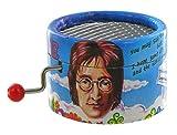Boîte à musique à manivelle en carton renforcé - Imagine (John Lenon)
