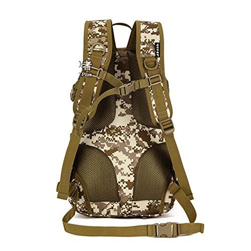 YAAGLE 20 L militärisch klein Gepäck Rucksack outdoor Reisetasche Fahrradrucksack Schultertasche Schüler Schultasche Tarnung 1
