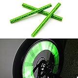 KaLaiXing Röhrenförmiger Speichenreflektor für das Fahrrad, zum Anklippen, Grün