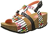 Desigual Women's Bio9 Flores and Rayas Heels Sandals