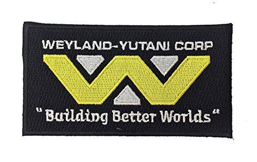 Super6props Aliens Weyland Yutani Corp Gebäude Bessere Welten USCM US Colonial Marine Corp Bestickt Patch Eisen auf Crew Uniform Patch für Cosplay, Kostüm und Kostüm 100mm x ()