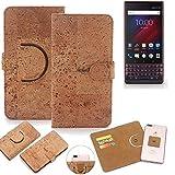 K-S-Trade 360° Cover cork Case for Blackberry Key 2 LE