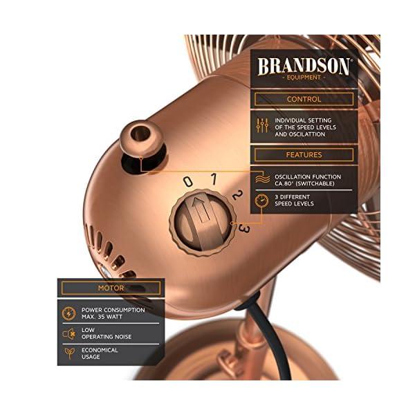 Brandson–Ventilador-de-pie-con-Design-Retro-en-cobre-3-diferentes-niveles-de-velocidad-funcin-de-oscilacin-de-aproximadamente-80–inclinable-30–Ventilador-de-suelo-soporte-ajustable-en-altura-alto-f