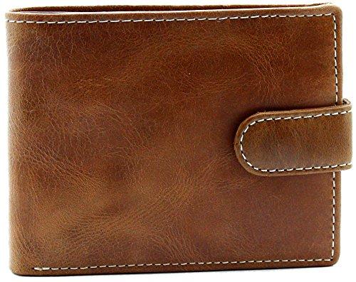 Topsum® London Designer Herren Geldbörse Premium echtes Crunch gegerbte Leder Geldbörse - Münzenhalter - Geschenk boxed # 4019 - (Lila Hat König)