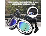 Best Motorcycle Goggles - Anti-Uv Motorcycle Scooter Pilot Goggles Helmet Glasses(White) Review