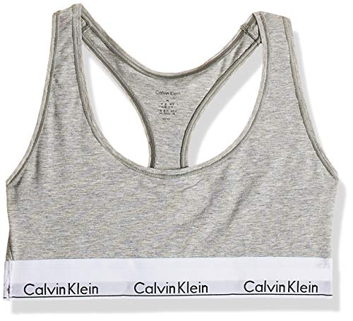 Calvin klein bralette, corsetto donna, grigio (grey heather 020), medium
