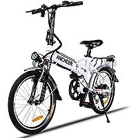 Teamyy Bicyclette Homme/Femme Pliable-Vélo Electrique Antichoc Bicycle Luxe 20 Pouces Avec Batterie Lithium-ion 25-35km/h