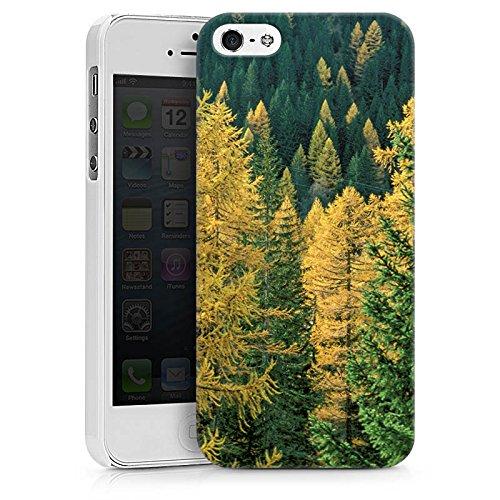Apple iPhone X Silikon Hülle Case Schutzhülle Wald Bäume Natur Hard Case weiß