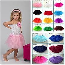 Falda de tul de 0a 12años, color monocolor diferentes 6Meses a 4años, 5/12años