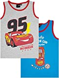 Kinder Unterwäsche Disney Cars, (2er-Pack) Muskelshirt für Jungen (110/116)
