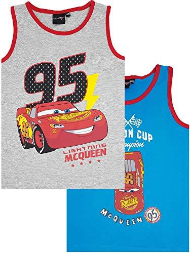 Kinder Unterwäsche Disney Cars, Muskelshirt für Jungen, Doppelpack (134/140)