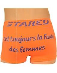 Boxer Humour Homme, Orange et Bleu, C'est toujours la faute des femmes