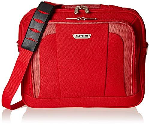 Travelite Borsa Messenger 98484 Nero 18 L rosso