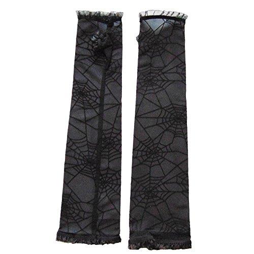 Partybob Fingerlose Spinnweben-Handschuhe - Hexenhandschuhe (Vampir Braut Kostüm)