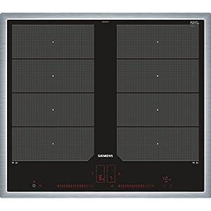 Siemens ex645lxc1e iQ700hobs eléctrico/vitrocerámica/vidrio y cerámica/58,3cm/Flexible de zonas–2varioinduktions de zonas de cocción/Negro