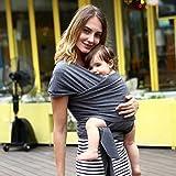 Babytragetuch - elastisches Tragetuch für Früh- und Neugeborene Kleinkinder - inkl. Baby Wrap Carrier Anleitung - Farb