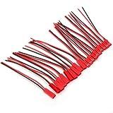 10X Paar JST BEC Stecker/Buchse Kabel Verkabelt 110mm Schwarz Rot Modellbau