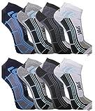 12paia di calze da uomo Sport Tempo libero Sneaker fuesslinge cotone 39–42; 43–46–bestsale247, Fantasia 2, 43-46