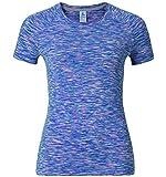 Odlo Damen T-Shirt s/s Crew Neck Sillian, Spectrum Blue Space dye, S