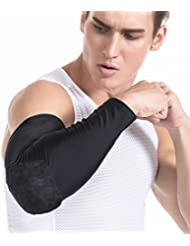 TUOYR Men Boys Adults Kids ELbow Honeycomb Pad Crashproof Baseball Softball Cycling Basketball Arm Guard Sleeve Elbow Support Combat Basketball Pad Protector Gear Shooting Hand Arm Sleeve