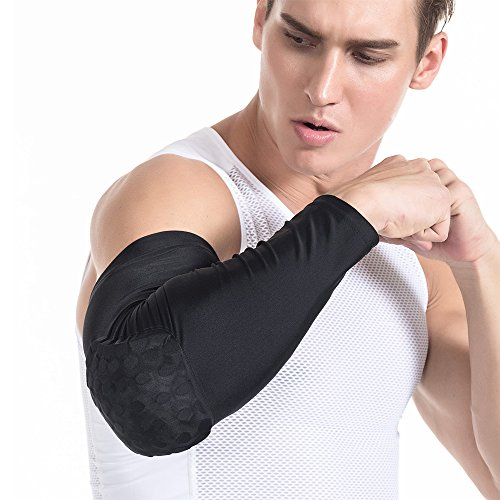 M?nner Jungen Erwachsene Kinder Ellenbogen Honeycomb Pad Crashproof Baseball Softball Radfahren Basketball Arm Guard Sleeve Ellenbogen Unterst¨¹tzung Kampf Basketball Pad Protector Getriebe Schie?en Hand Arm Sleeve