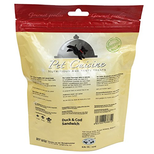 Pet-Cuisine-Dog-Training-Snacks-Puppy-Chews-Jerky-Treats-Duck-Cod-Sandwich-250g