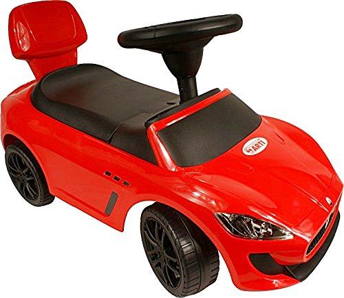 LumenTEC ARTI Kinderrutscher Rutschauto Rutscher Rutscherfahrzeug ab 1 Jahr geeignet, Musik multifunction, Maserati (ROT)