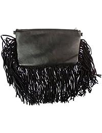 Girly HandBags piel sintética pompón cartera con cremallera bolso cadena bolsa de hombro de tarde elegante