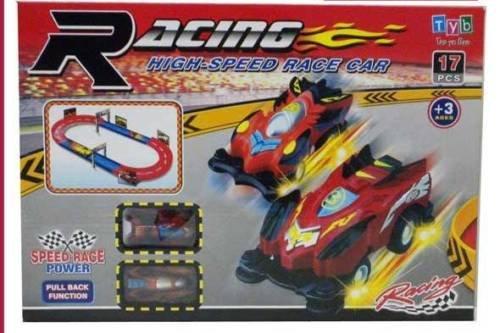 Super Star Monster 2 macchinine GIOCO PISTA 17 PZ retro carica AUTO acquaverde