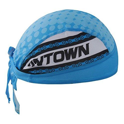 Imagen de ahatech al aire libre senderismo ciclismo pañuelo en la cabeza pirata bandana gorro de uv protector solar estilo azul alternativa