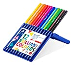 Staedtler 157 SB12 ergo soft Buntstifte (erhöhte Bruchfestigkeit, dreikant, ABS-System, rutschfeste Soft-Oberfläche, kindgerecht nach DIN EN71, FSC-Holz, Made in Germany) Set mit 12 brillanten Farben