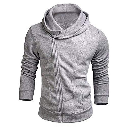 HUIHUI Herren Bekleidung Pullover v Ausschnitt Baumwolle Kapuzenpullover Team ClubKapuzen-Sweatshirt (Grau,M)