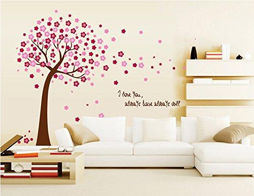 ufengker-romantique-fleur-rouge-arbre-stickers-muraux-salle-de-sejour-chambre-a-coucher-autocollants