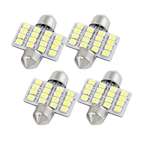 Preisvergleich Produktbild Inlink 4pcs Led Interior Festoon led Reading Light 16 SMD 3528 LED Bulb Light 16SMD 31mm 3528 White 12V