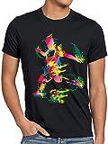 style3 WM 2018 Deutschland Fußball T-Shirt Herren Fussball Meisterschaft Fan-Shirt Russland, Größe:XXXL, Farbe:Schwarz