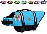 Vivaglory Hundeschwimmweste Doggy Float Coat Wassersport Schwimmhilfe Rettungsweste für Hunde Haustier Mit Griff und Reflektoren, Blau, XS