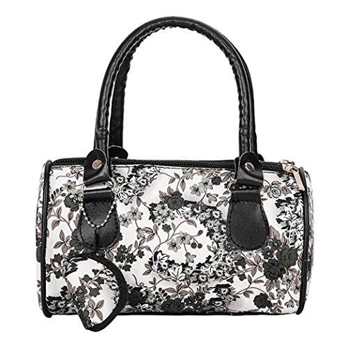 9b2ae4d435 Beikoard Vendita Calda Borsa a Tracolla Tote Ladies Handbag Ricamata a  Spalla da Donna (Nero