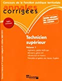 Image de Technicien supérieur 2009-2010 annales corrigées - concours interne et 3e concours - vol. 1