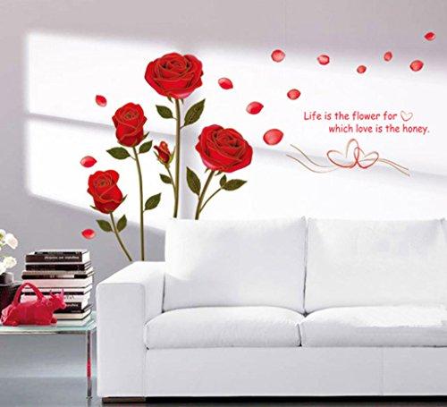 Decals Design 'Romantic Rose Flowers' Wall Sticker (PVC Vinyl, 50 cm x...