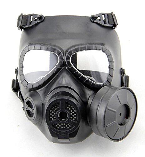 H World EU M04 Masque à gaz anti-buée avec ventilateur, Homme, noir