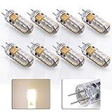 8 x Anten® LED G4 Light, Energieeffizient 2W Warmweiß Glühbirnen Entspricht 20W Halogen-Lampe,2800-3200K SMD3014 110LM (AC/DC12V)