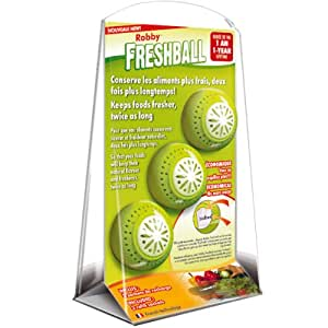Robby - freshball - Lot de 3 boules conservation aliments