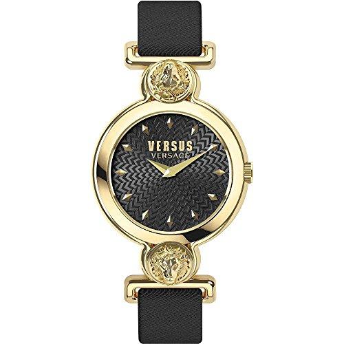 Versus by Versace Femme Analogique Quartz Montre avec Bracelet en Cuir VSPOL3118