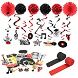 Easy Joy Rock Party Dekorations Kit Rock & Roll Mottoparty Geburtstag Dekor