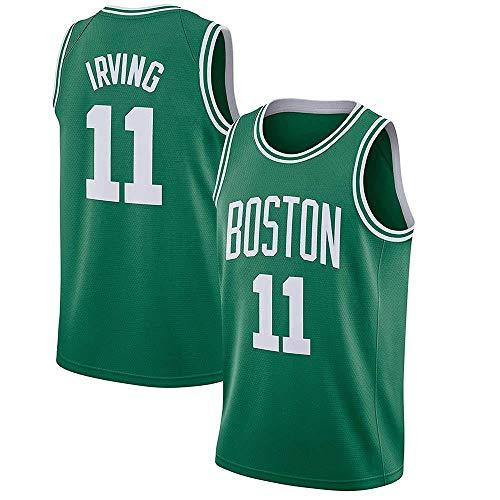 AKCHIUY Herren Basketball Trikot Kyrie Irving # 11 - NBA Boston Celtics , New Stoff Bestickt Swingman Jersey ärmelloses Shirt,Green-L -