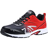LARNMERN Safety Shoes for Men, LM-1805 Ultra Lightweight Breathable Steel Toe Work Trainers Slip Resistant Sneakers 10.5 UK Red