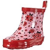 Playshoes Girls Rubber Boots Ladybug Allover Short
