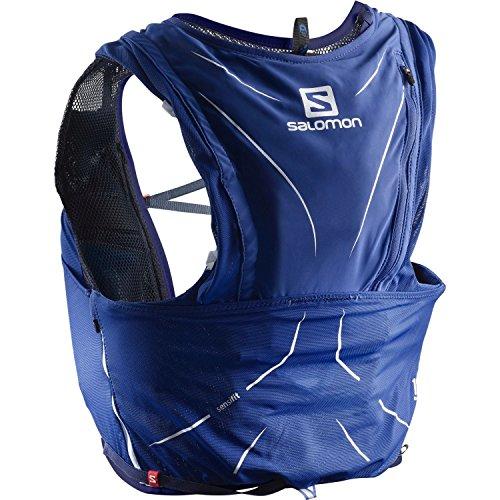 Salomon Leichte Rucksack-Weste fürs Laufen, Hiken oder Radfahren, ADV SKIN 12 SET, Blau, Größe:  2XS